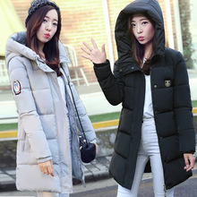 Womens Winter Jackets And Coats New Cotton Girls Long Section Of Europe And The Code Big Collar Hooded Thick Mianfu Female Coat