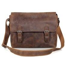 6002LR-2 Crazy Horse Leather  Brown  Messenger Bag for Men