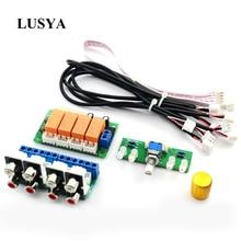 Lusya przekaźnik 4 way wejściowy sygnał Audio przełącznik RCA przełącznik Audio wybór wejścia gotowa płyta B9 002