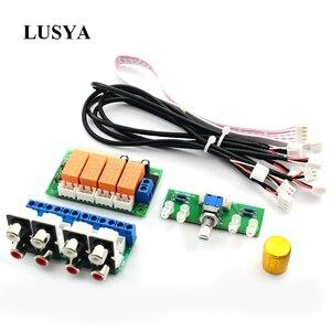 Image 1 - Lusya röle 4 yönlü ses giriş sinyali seçici anahtarlama RCA ses anahtarı giriş seçimi bitmiş kurulu B9 002
