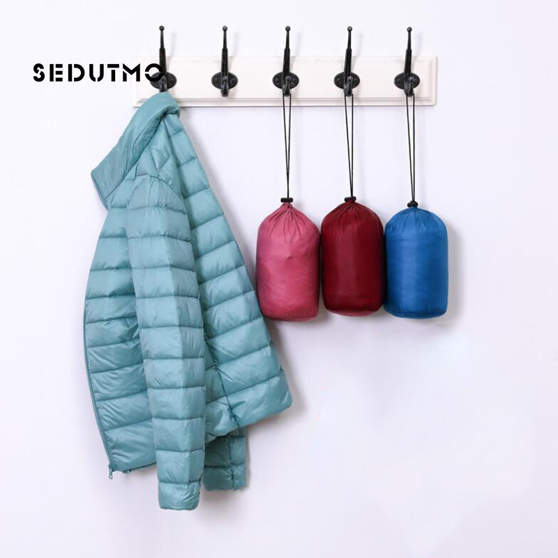 SEDUTMO Spring Plus Size 4XL Womens   Down   Jackets Winter Duck   Down     Coat   Ultra Light Short Hoodie Puffer Jacket Parkas ED664