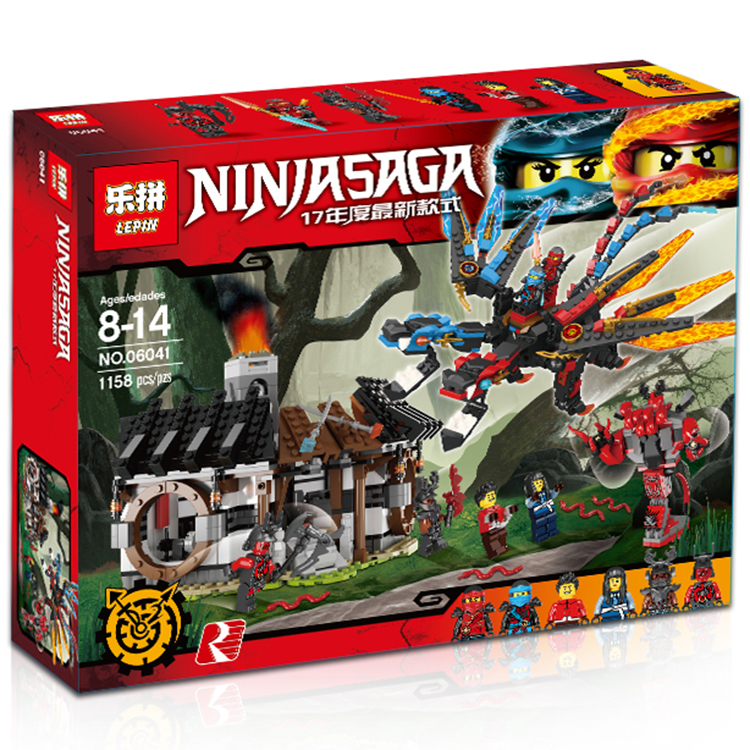 2017 Hot Lepin 06041  series of dragon forging assembled Building Blocks Bricks  Toys compatible with dhl new lepin 06039 1351pcs ninja samurai x desert cave chaos nya lloyd pythor building bricks blocks toys compatible 70596