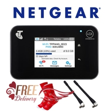 Unlocked Netgear Aircard AC810S 4G LTE Cat11 Mobile Hotspot 600Mbps WiFi Router plus antenna A pair