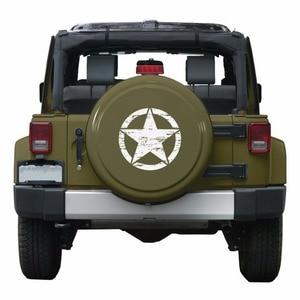 """Image 5 - Neue Armee Stern Distressed Aufkleber Große 16 """"Ca. Vinyl Military Haube Grafik Körper 40CM Aufkleber Passt Für Jeep mode Kühlen #274981"""
