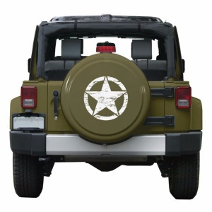 "Image 5 - New Army Star Distressed Decal Large 16"" Approx Vinyl Military Hood Graphic Body 40CM Sticker Fits For Jeep Fashion Cool#274981"