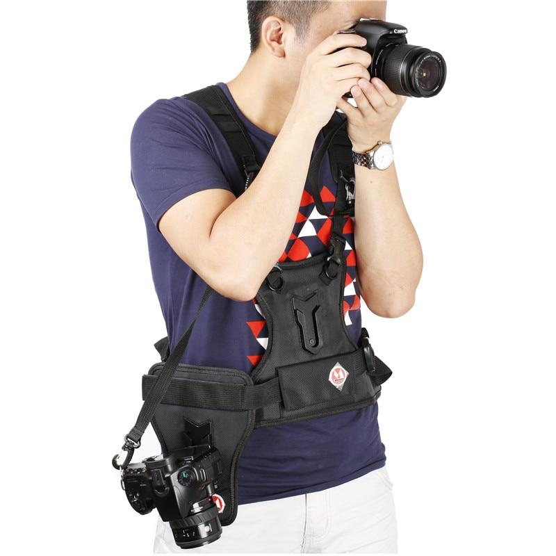 Micnova Double Dual Shoulder Quick Release Neck Belt Sling Strap Vest For Canon Nikon Sony Pentax Panasonic DSLR Cameras