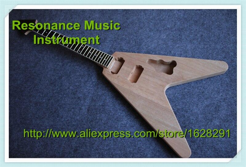 Nouveauté volant V Kit de guitare électrique inachevé de l'instrument de musique de chine