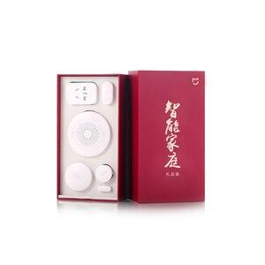 Image 2 - Original xiaomi kit casa inteligente infravermelho sensor de corpo humano nova porta gateway janela sensor interruptor sem fio soquete zigbee 5 em 1