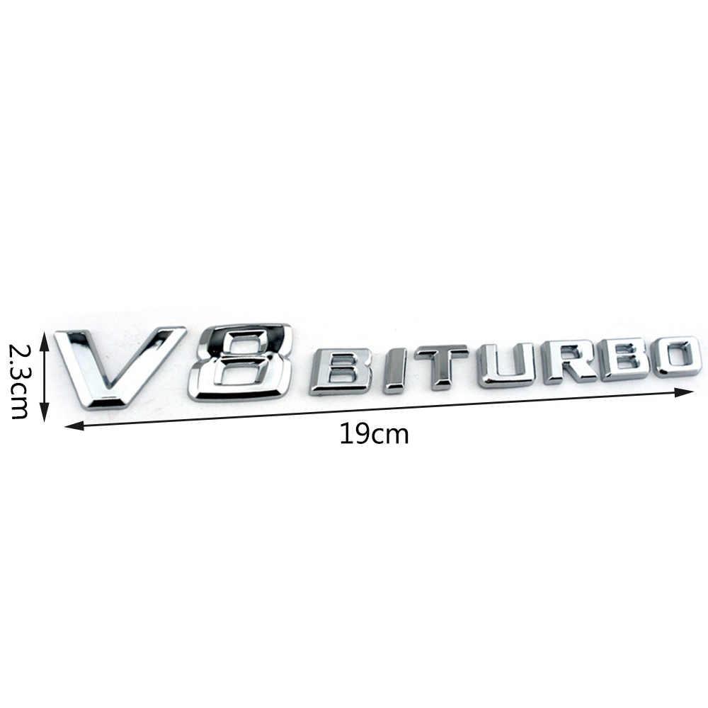 1-10 Pcs V8 BITURBO Universal Car Side Logo Adesivo Per Mercedes Benz BMW Audi Honda Mazda Volvo Jeep renault Peugeot