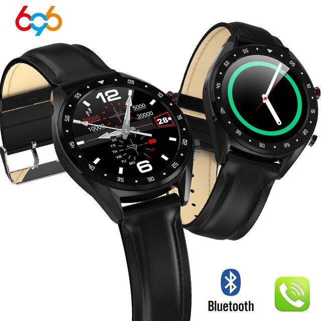 696 L7 BTcall Smart Watch ECG+PPG Heart rate Blood Pressure Monitor IP68 waterpoof Pedometer Sports Fitness Bracelet Men PK N58