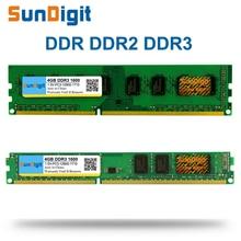 SunDigit DDR 1 2 3 DDR1 DDR2 DDR3 / PC1 PC2 PC3 512MB 1GB 2GB 4GB 8GB 16GB Computer Desktop PC RAM Memory 1600 MHz 1333 800 400