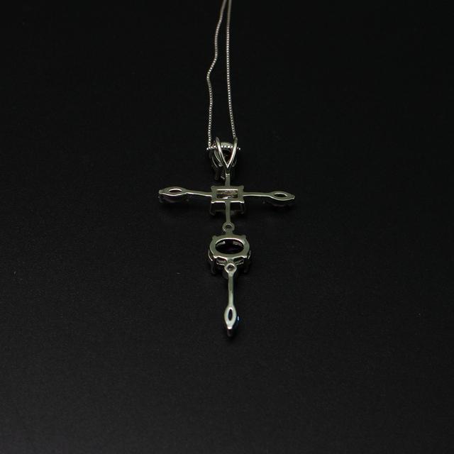 Elegant Cubic Zircon Cross Necklaces Pendants Silver Color Cross Christian Jesus Jewelry For Women Accessories