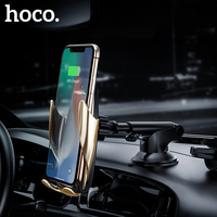 HOCO Qi Car Wireless Charger Infrared Induction Auto Clamping Air Vent Mount Car Phone Holder 10W Fast Charger for iphone X XS