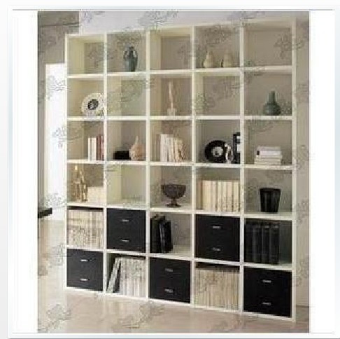 Brief Bookcase With Drawer Bookshelf Partition Cabinet Closet Antique Frame Shelf
