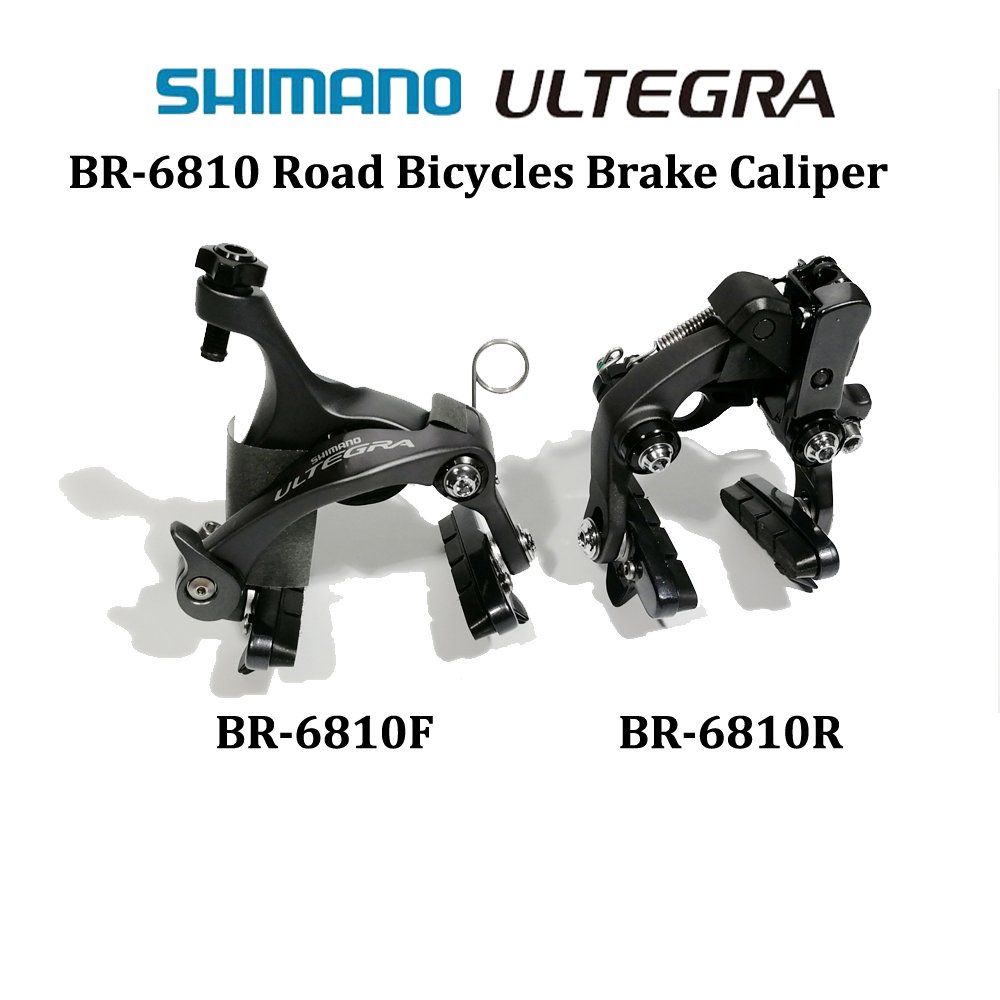 V brake SHIMANO ULTEGRA BR R6810 Direct mount Type brake caliper road bicycle brake R6810F R6810R Front and Rear Brake 2 pair universal car 3d style disc brake caliper covers front rear