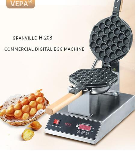 Free shipping Digital Display Electric Eggs Waffle Maker Hong Kong QQ Egg Aberdeen Omelet Machine Puff Cake Waffle Iron Maker