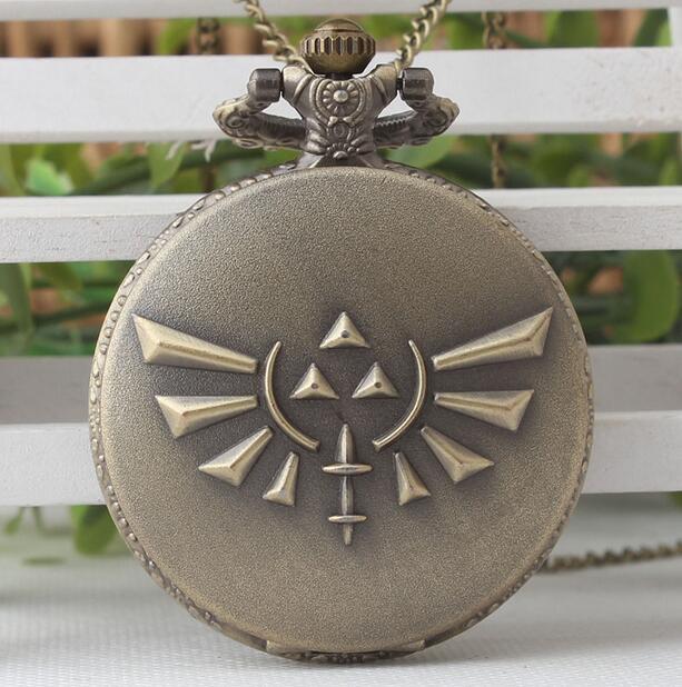 Skyward Sword Bronze Silver Quartz Pocket Watch Analog Necklace Men Womens Watches Chain Gift Quell Summer Thirst Open-Minded Fashion Game The Legend Of Zelda Watches