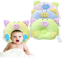 Cute cartoon pig baby pillow newborn baby shaping pillow anti-bias headrest baby pillow correct headrest pillow baby