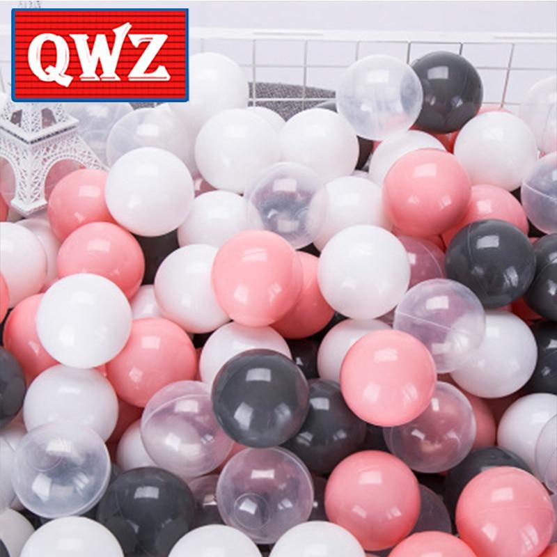 QWZ 50 Pz Del Gioco Del Bambino Oceano Palle Multicolore Opzionale Bambini Lo Stress palla Antistress Piscina di Palline di Plastica Pit Gioco Giocattoli Per Bambini regalo