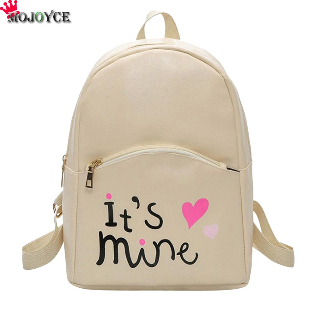 MOJOYCE Pu Leather Backpack Women Backpack Fashion Black Backpacks For Teenage Girls School Bags Famous Brand Women Bag Mochila