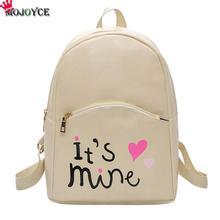 MOJOYCE Pu Leather Fashion Women Black Backpacks For Teenage Girls School Bags Mochila Feminina Sac a