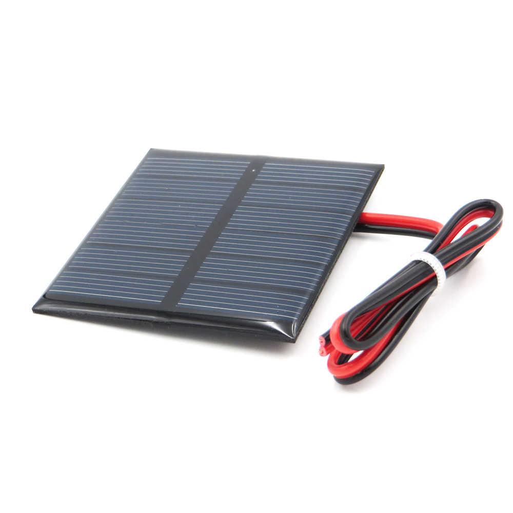 3 فولت 150mA 0.45 واط الخلايا الشمسية الايبوكسي الكريستالات السيليكون DIY بها بنفسك بطارية وحدة شاحن الطاقة الألواح الشمسية الصغيرة لعبة 3 فولت فولت
