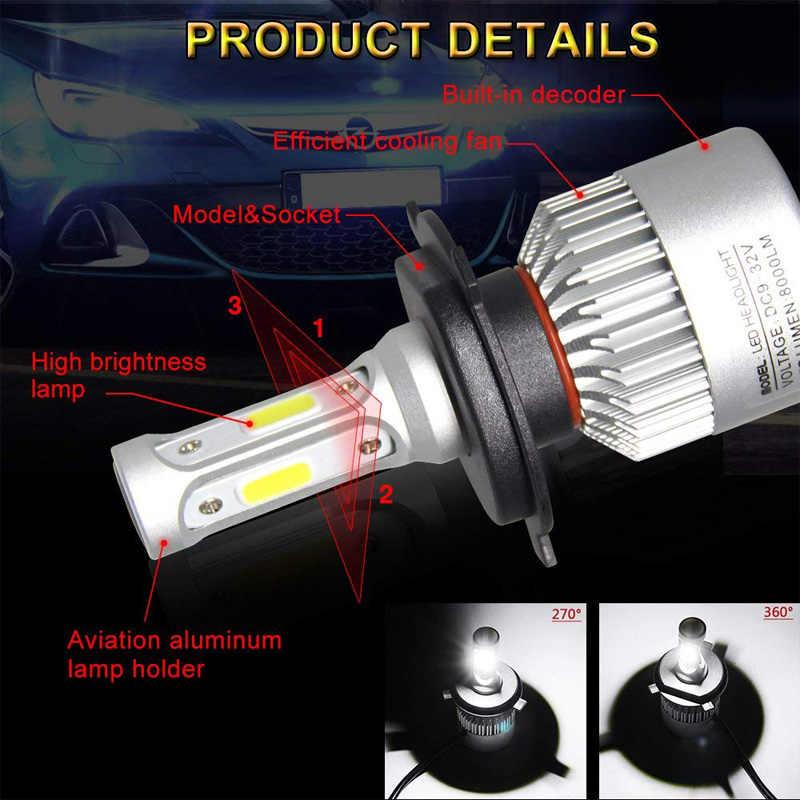 FLYCAR Turbo LED H1 H3 H4 H7 H11 H13 Car Fog Light Bulbs 880 881 H27 9005 HB3 9006 HB4 9004 HB1 9007 HB5 LED Headlight Lamps