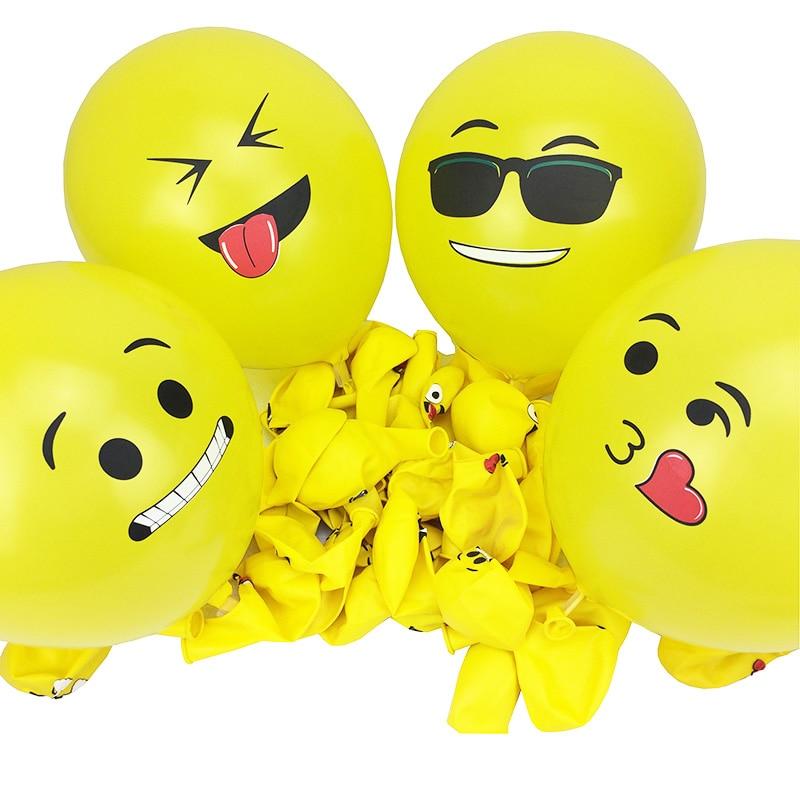 Emoji ballon 12 inch 100pcs Latex Balloons Wedding Party Reusable Yellow Smiling Face Inflatable Balloons helium party balloons