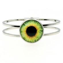 Fashion Animal Eye Photo 25mm Glass Cabochon Bangle For Women High Quality Jewelry Dropshipping 2019