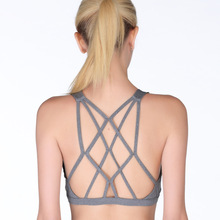 Professional Shockproof Sports Bra No rims Female Running Fitness top Running Large size Underwear Bra back Design Vest Sexy