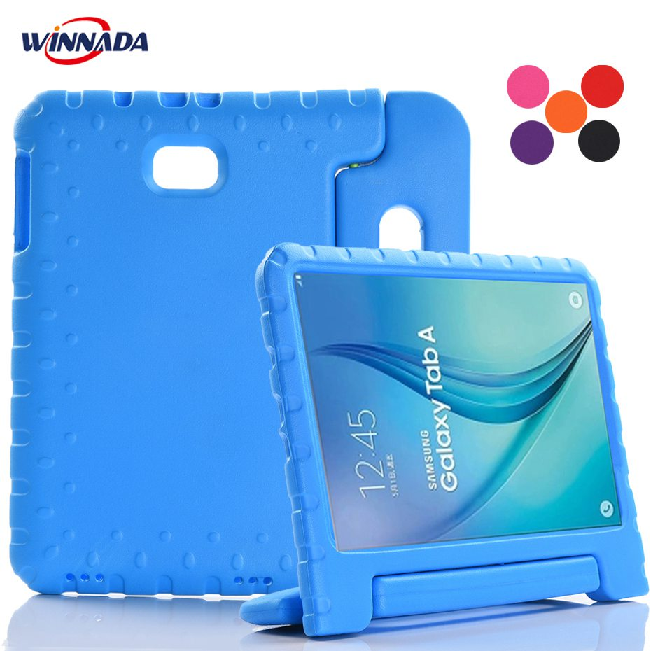 For Samsung Galaxy Tab A 10.1'' T580 T585 Case Shock Proof EVA full body stand Kids Safe Silicone cover for SM-T580/585 2016 цена