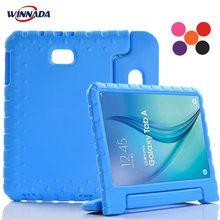 Voor Samsung Galaxy Tab Een 10.1 T580 T585 Case Shock Proof Eva Full Body Stand Kinderen Veilig Siliconen Cover voor SM T580/585 2016