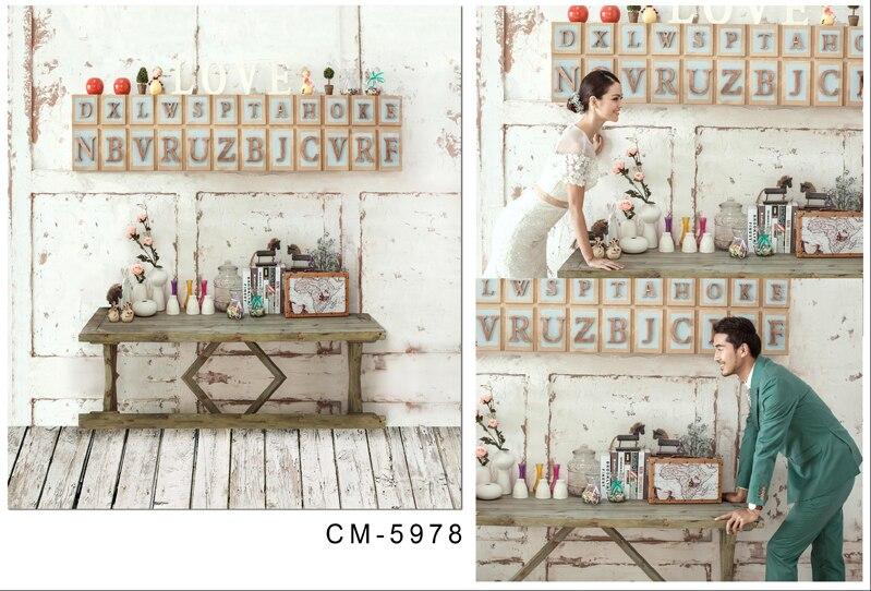 ჱphotography Backdrop Wedding Background Wood Letters On The Wall