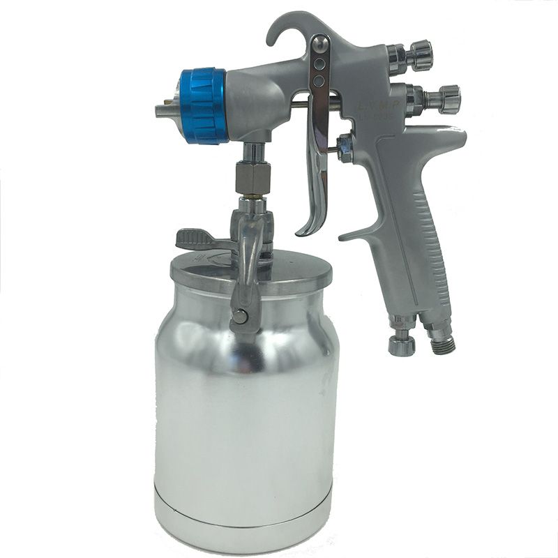 цена на SAT0081 professional airbrush spray gun paint high quality airbrush spray gun lvmp for car painting pneumatic hand gun tools