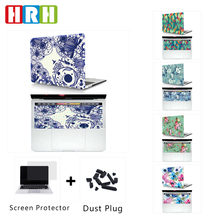 2 In 1 3D Hoodle Pattern Laptop Body Shell Protective Hard Case and Matching Rubber Cover for MacBook Air Pro Retina 11 12 13 15
