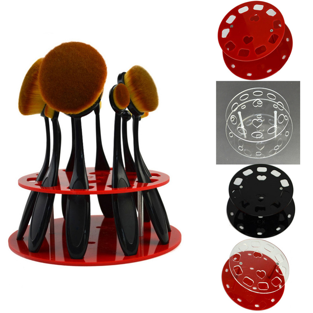 New Toothbrush Makeup Brushes Removable Holder Stand Drying Shelf Makeup Brush Organizer Display Rack Holder Cosmetic Tool cheap sale hydration water bladder bag cleaning tube hose sucker brushes drying rack set