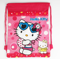 2017 Hello Kitty Children Drawstring Bag Backpacks Kids Cartoon Character School Bags Mochila Infantil Fashion High Quality