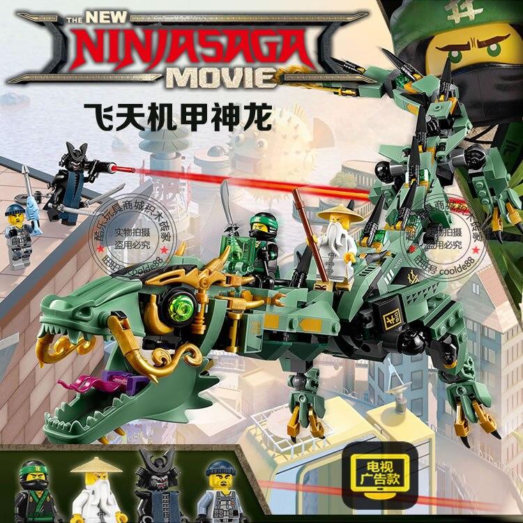 Ninja Movie Flying Mecha Dragon Building Blocks 06051 DIY Building Brick Ninja Toys 70612 Boys Gift