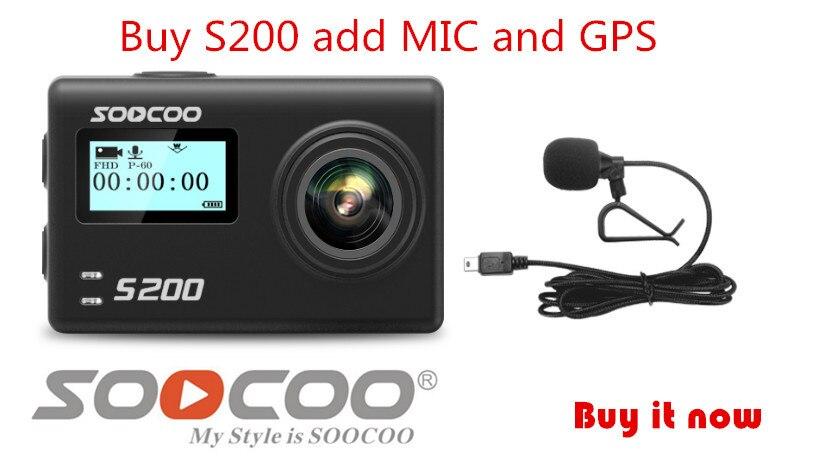 Unterhaltungselektronik Imx078 Mit Wifi Gryo Voice Control Externe Mic Gps 2,45 touch Lcd Hilfreich Soocoo S200 Action Kamera Ultra Hd 4 Karat Ntk96660