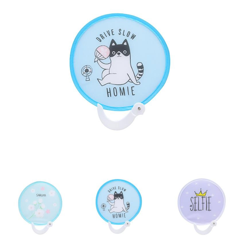 Festive & Party Supplies Home & Garden High Quality Crystal Fashion 2018 Hot Sale Portable Folding Round Cloth Pocket Fan Travel Holiday Souvenir Gift