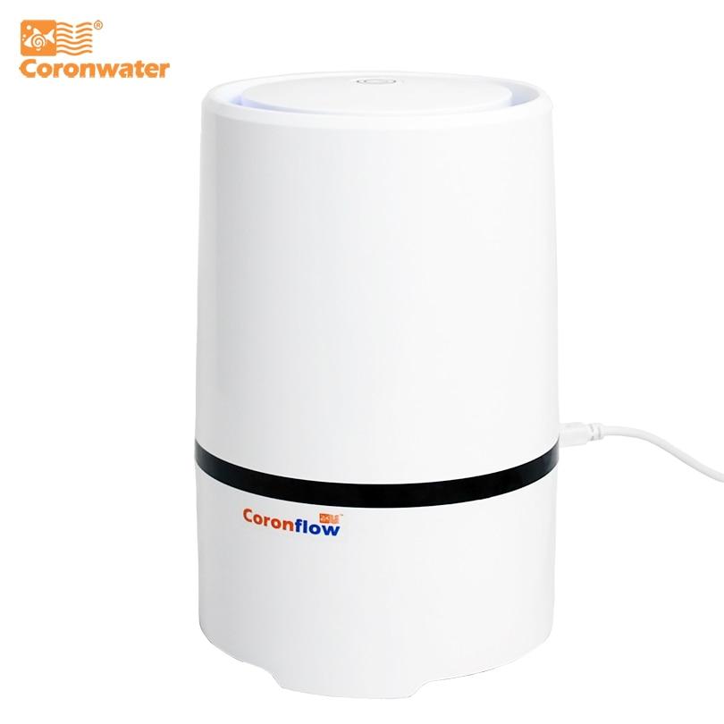 Coronwater casa e escritório desktop hepa filtro purificador de ar portátil ionizador GL-2103