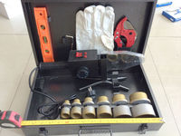 Бесплатная доставка двойной контролем температуры ppr сварочный аппарат AC 220 В 1500 Вт, 20 63 мм Пластиковые сварки