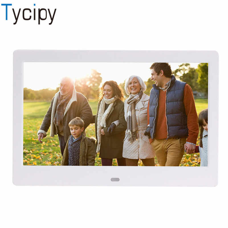 "Tycipy 10"" Digital Photo Frame LED Electronic Screen Photo Frame for Music Mp3 Video Mp4 Business Advertisin with Remote Control"