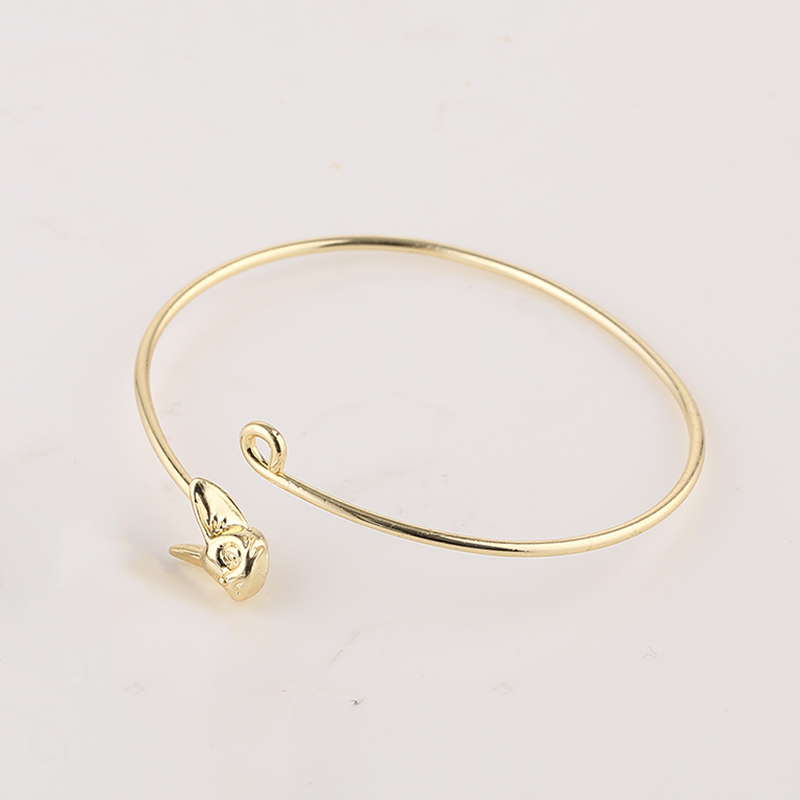 Imported From Abroad 10pc New Adjustable Animal Bangles Mix Color Lovely Rogue Rabbit Head Bracelet For Men And Women Wholesale Free Shipping