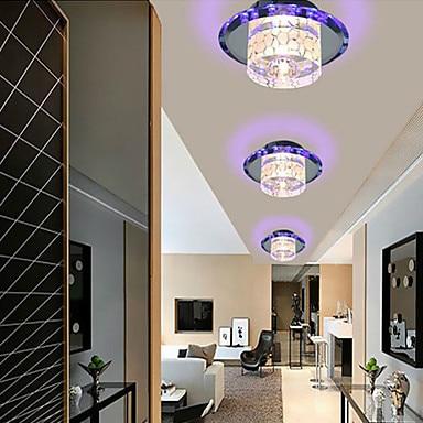 Ceiling lights mini flush mount modern led crystal ceiling for Modern hallway light fixtures