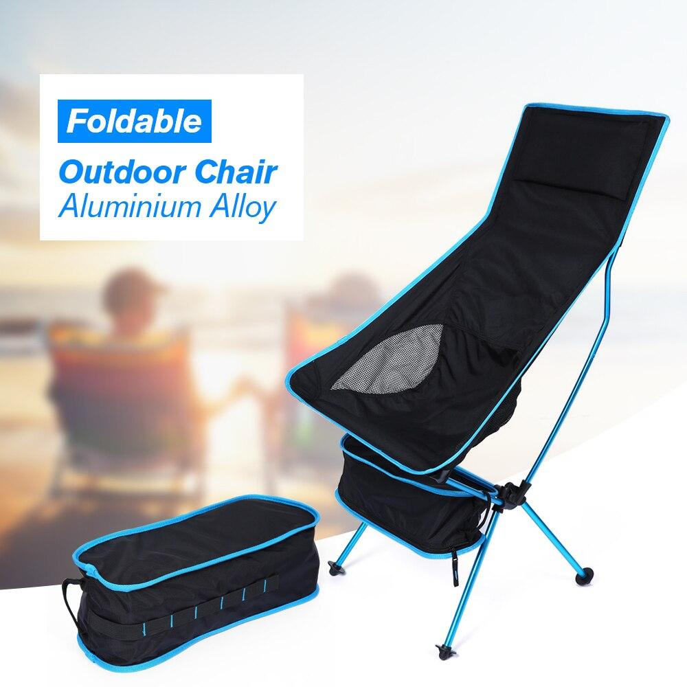 Beach Chair Detachable Camping Chair Aluminium Alloy Breathable Extended Folding Fishing Chair Outdoor Portable Garden Chair