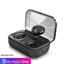 I17 TWS Invisible Mini 3D Stereo Earphone 5.0 Hands-free Noise Reduction Bluetooth Headset Wireless Earphones and Power Bank Box