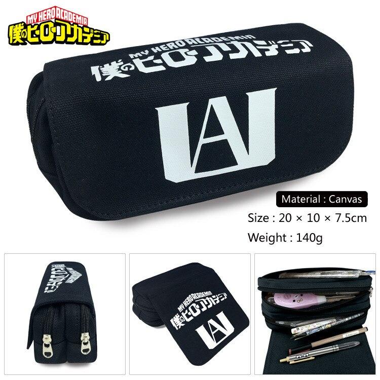 My Hero Academia Midoriya Izuku Cartoon Pencil Case Bag Children Boys Girls Pen Bag Anime Canvas Makeup Bag Women Handbags Gift