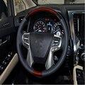Авто обложка отделка Для Toyota Alphard Vellfire 2016 ABS chrome руль ручка кнопка маска cap аксессуары литье отделка