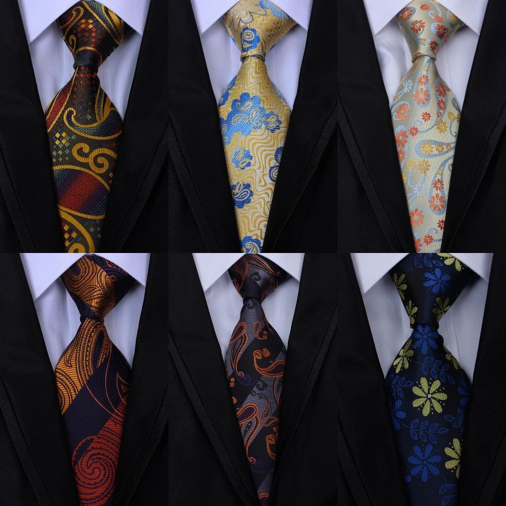 New Fashion Design JACQUARD WOVEN Men Tie 100% Silk Neckties Paisley Floral Stripes Tie for Men Business Wedding Party Gravatas